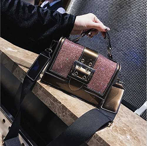 Tide Petite Carrée Noir Coréenne Pendant Girl Mobile De Version Broadband Paillettes Shoulder Fashion Marron Bag Rouge Section Wine Marron Hztdda Single Marron pfvqY4WO
