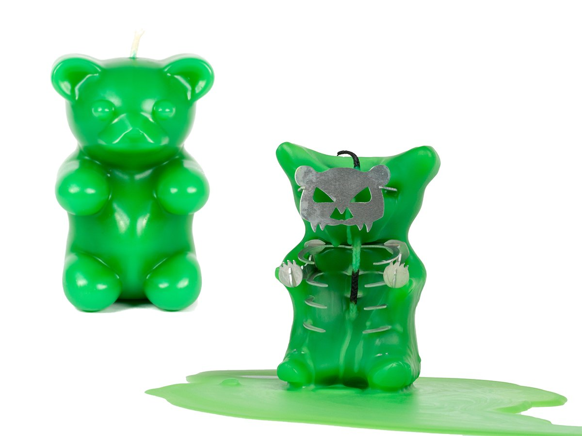 4f627dc4069440 Amazon.com  Gummy Bear Candle – Scented – Skeleton Candles – Green  Home    Kitchen