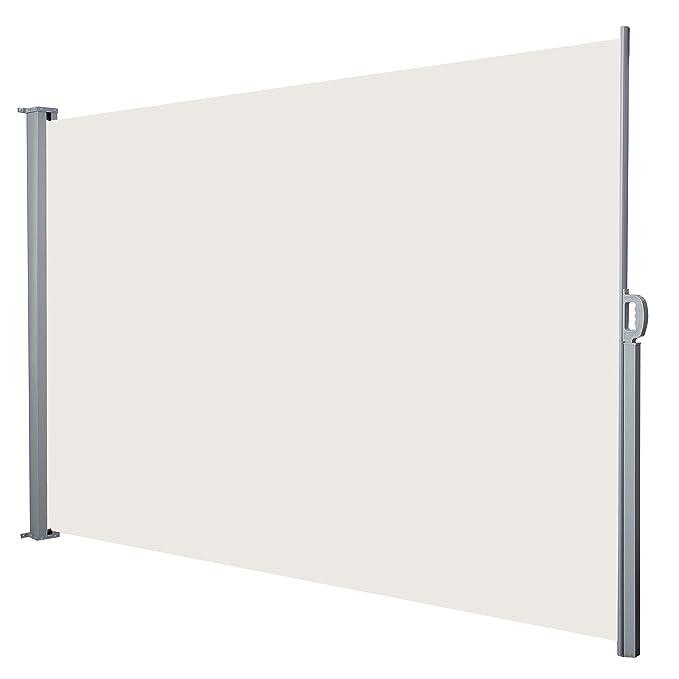Jalano Seitenmarkise Windschutz Seitenrollo Balkon 200x300cm Farbe:beige