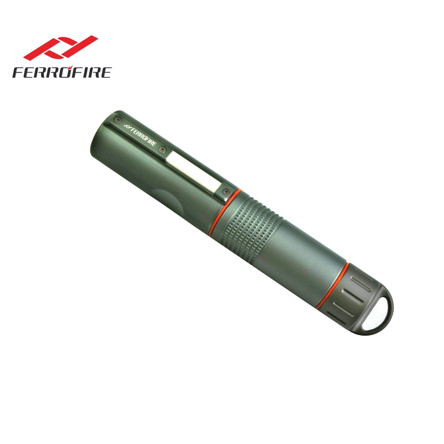 FERROFIRE Fire Starter XXL (S10E1), 2/5 inch Diameter Replaceable Ferro Rod, Compact Package. Truly for All Weathers and A Lifetime of Use with Waterproof Capsule, Built-in Striker, Compass by FERROFIRE
