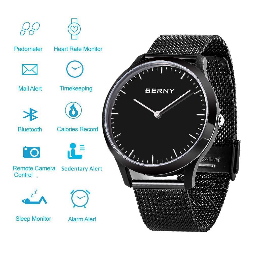 Amazon.com: BERNY Reloj inteligente híbrido para hombres y ...