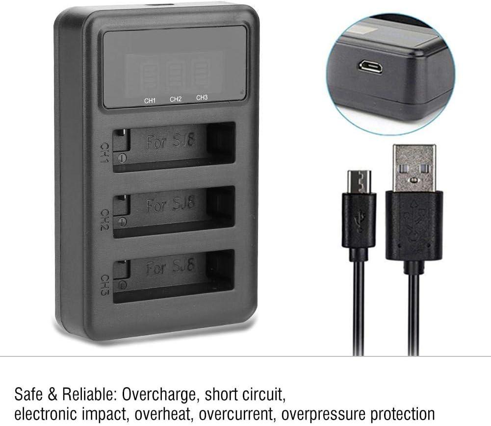 V BESTLIFE Action Camera Battery Charger for SJCAM SJ4000 SJ7 SJ6 SJ8 Portable Charger for 3 Camera Batteries SJ8