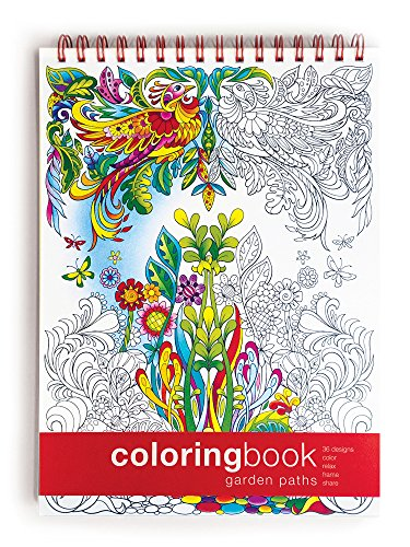 Action Publishing Coloring Book: Garden Paths · Garden Scenes and Intricate Animal Designs for Stress Relief, Relaxation and Creativity · Large (8.6 x 11.75 inches)