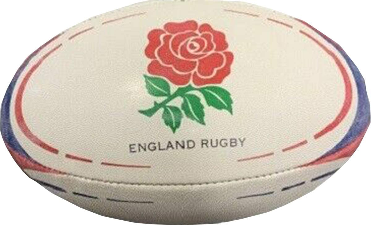 ND Sports Rugby Ball ENGLAND Print Hand Stitched Durable Rubber Size 5