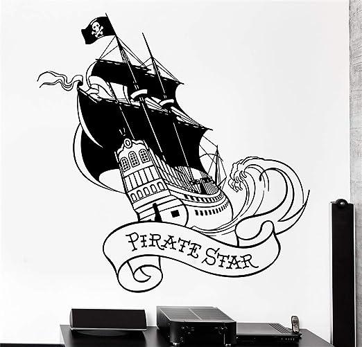 pegatinas de pared tortugas ninja Pirate Star Ship Yate con ...