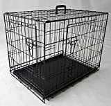 Cheap Merax 48″W X 30″L X 32″ Double-Door Folding Dog Crate Cage Kennel With ABS Tray (48″W X 30″L X 32″H)