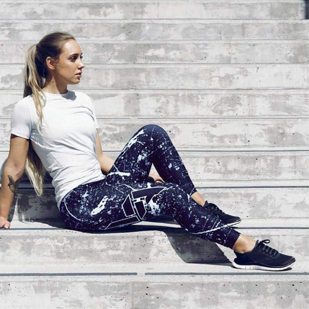 Running Yoga Leggings REYO Women Print Slim High Waist Yoga Pants Fitness Leggings Running Gym Athletic Pants Trousers