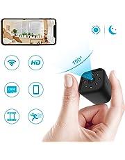 Mini Caméra Espion WiFi, ieGeek Caméra Cachée Full HD 1080p Portable sans Fil Caméra de Surveillance avec Vision Nocturne et Détection de Mouvement - USB Chargement - pour iPhone / Android / iPad