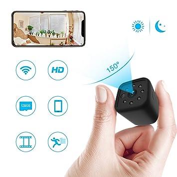 Mini cámara espía WiFi, ieGeek cámara Oculta Full HD 1080p portátil inalámbrico cámara de vigilancia
