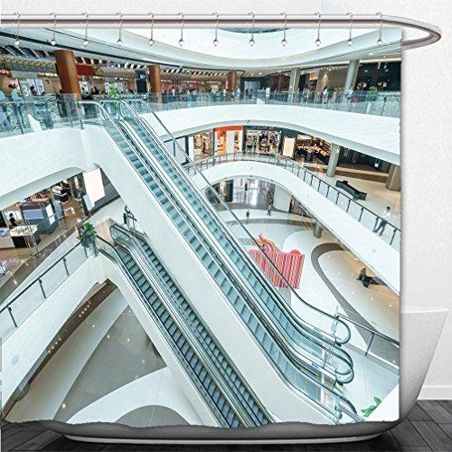 Interestlee Shower Curtain interior of modern shopping mall - Minneapolis Mall Shopping