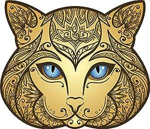 Amazon.com: Regal Golden Ombre Blue Eyed Mandala Flower