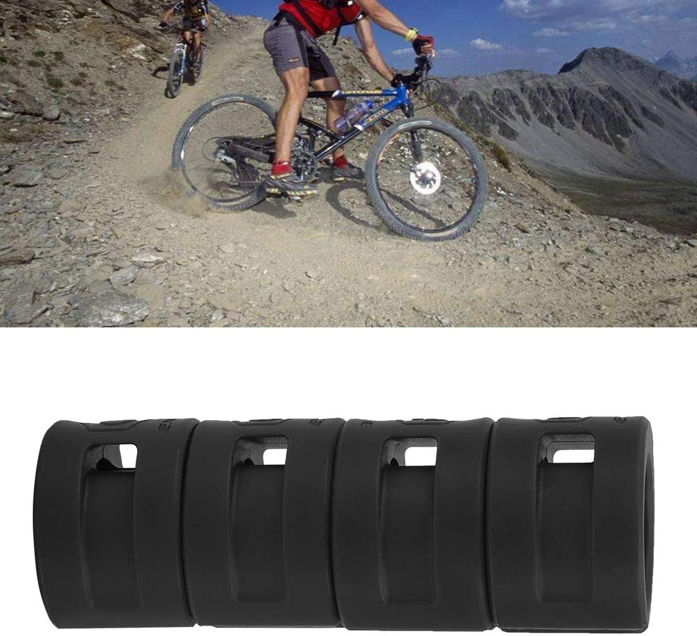 Cubierta Protectora de Horquilla de Bicicleta para Bicicleta 4 Piezas Fabater Protector de Horquilla de Bicicleta Anillo de Goma protecci/ón Flexible de Horquilla de Bicicleta