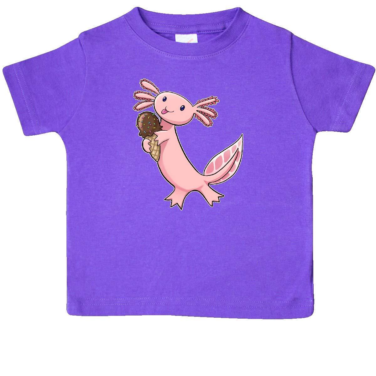 inktastic Cute Axolotl Eating Ice Cream Baby T-Shirt