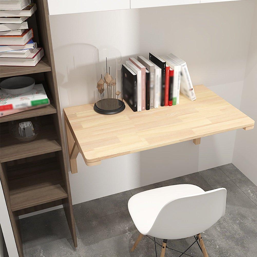 ソリッドウッド壁掛けダイニングテーブルクリエイティブ家庭用コンピュータデスクキッチンストレージテーブル子供の学習テーブル (サイズ さいず : 60*45cm) B07DPC4LJX 60*45cm 60*45cm