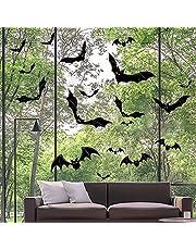 Halloween Vleermuizen Muurstickers, 66 Stuks PVC Vleermuizen Muurstickers Raamstickers Muurstickers voor Huisdeuren Ramen en Muur Halloween Feestdecoratie