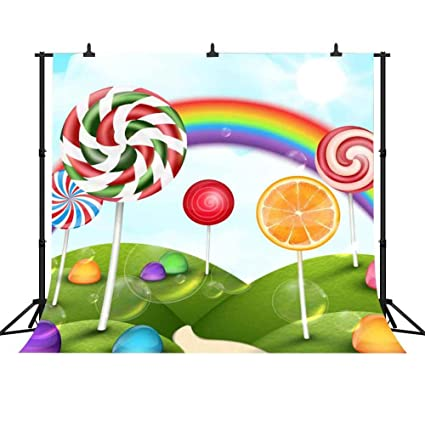 amazon com fh 10x10ft lollipop candy backdrop blue sky white