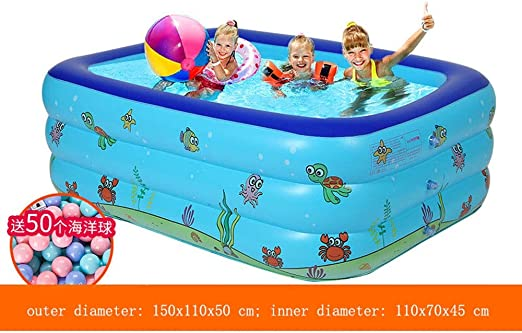 BATHTUPA Arena Piscina Hinchable para niños y Adultos, Gran tamaño ...