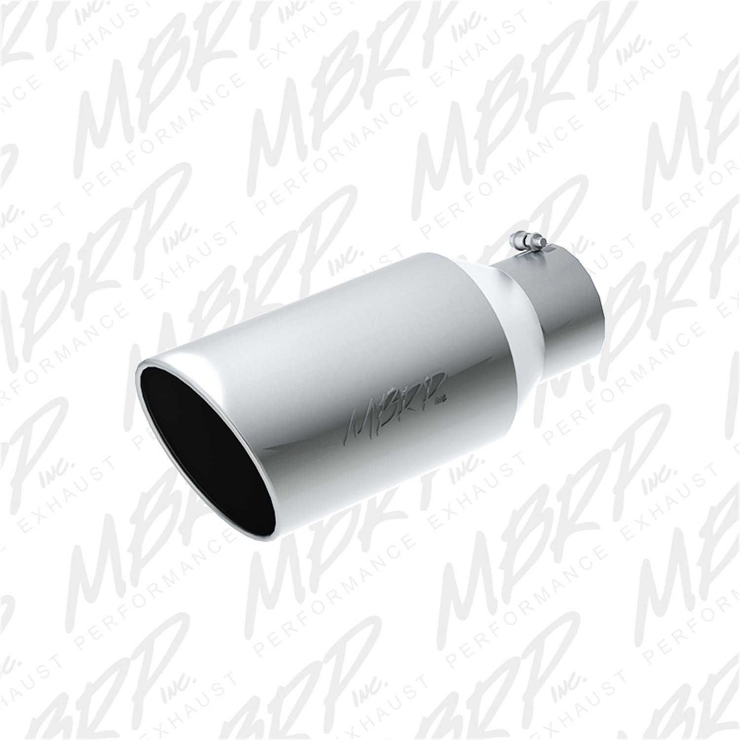 MBRP T5129 T304 Stainless Steel 5' Inlet 18' Length 8' Outer Diameter Rolled End Exhaust Tip