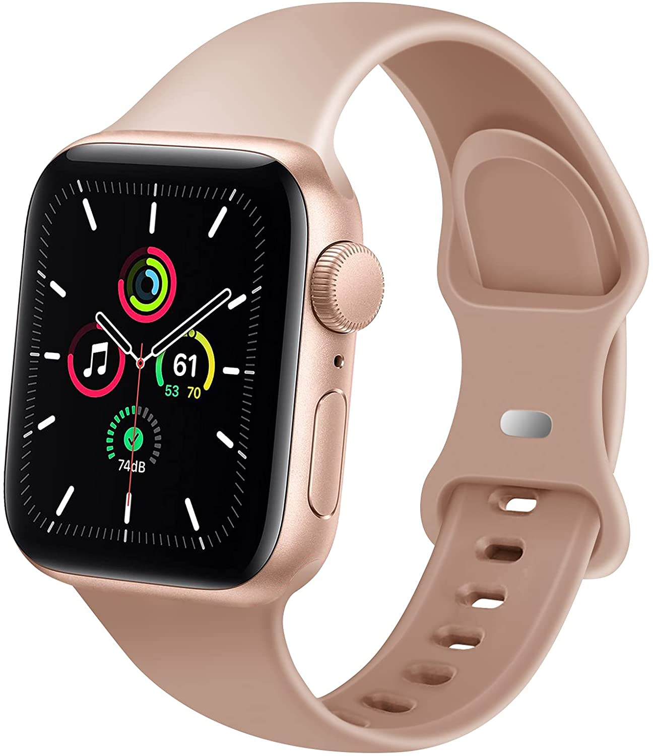 DYKEISS Silicone Sport Band Compatible for Apple Watch Band 38mm 42mm 40mm 44mm, Soft Replacement Strap Wristband Accessory for iWatch Series SE/6/5/4/3/2/1 Women Men
