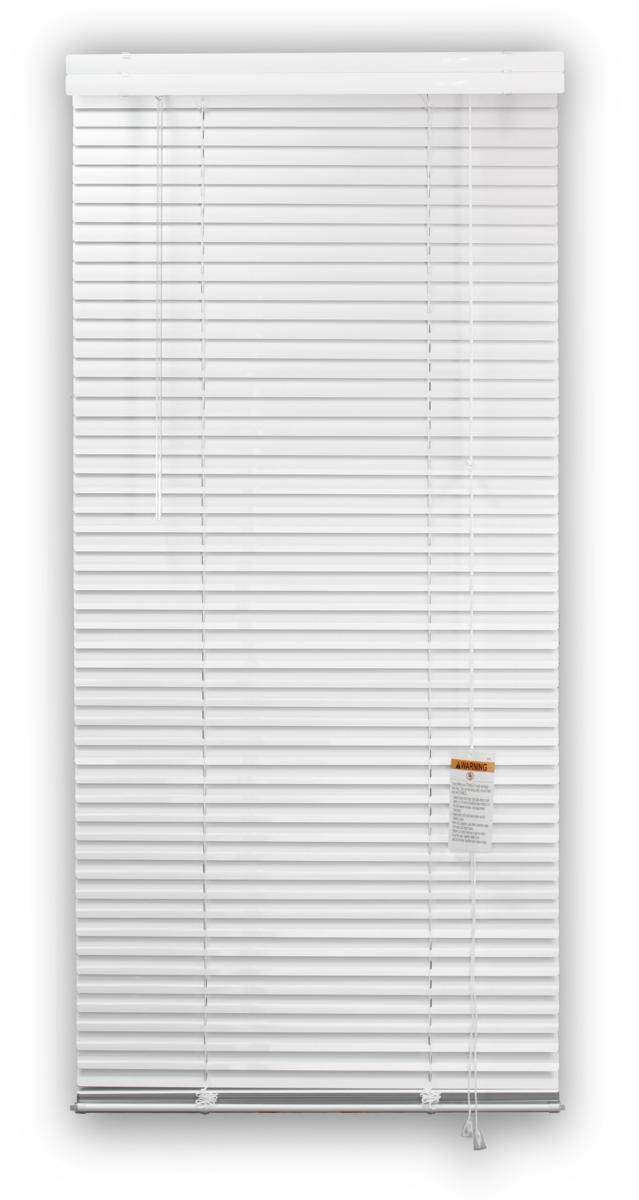 DEZ FURNISHINGS 28214 1-Inch Aluminum Blind, 60-Inch W X 48-Inch L, White