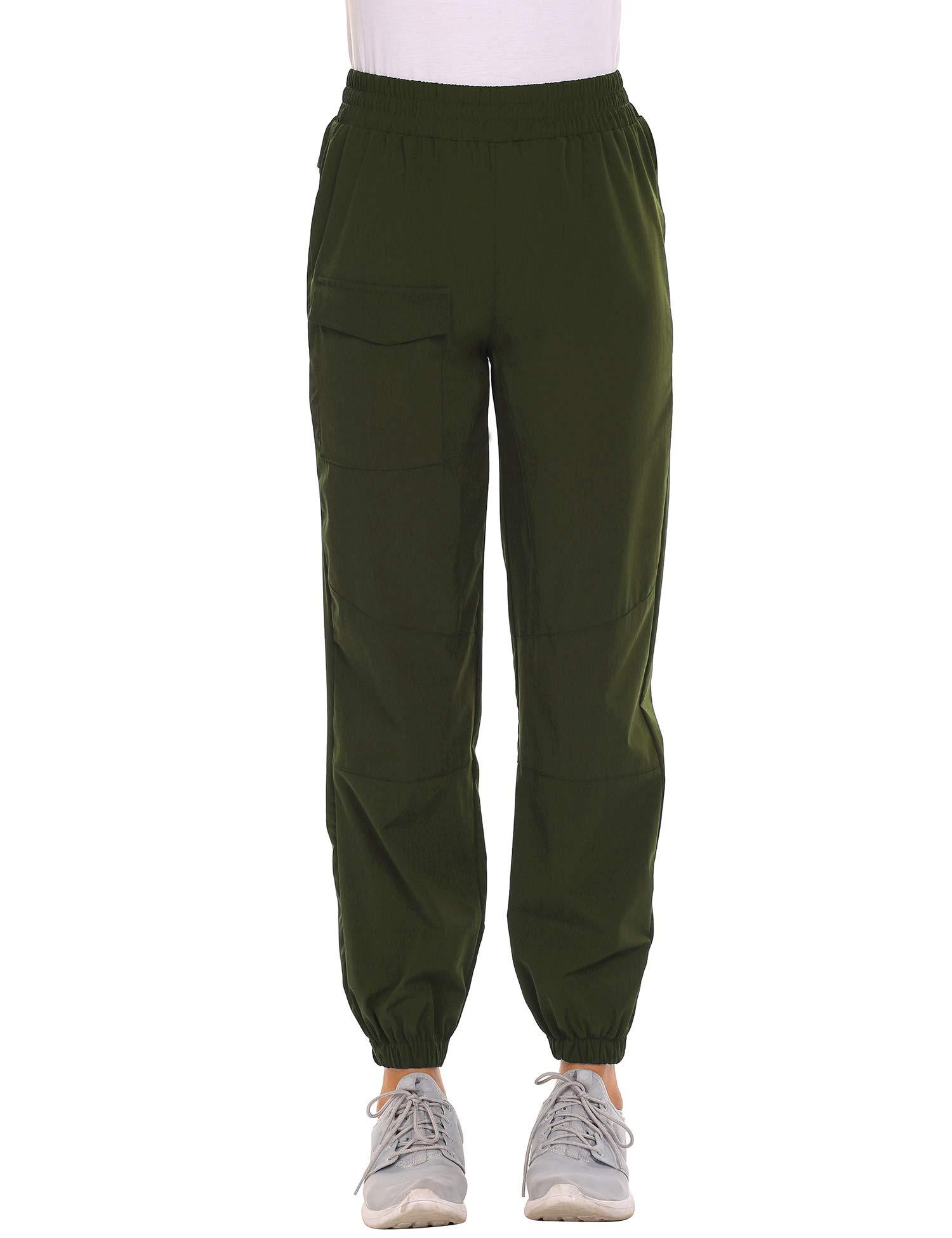 Chigant Pantalones cargo de senderismo para mujer, de secado rápido, ligeros, al aire libre, resistentes al agua, para acampar con bolsillos