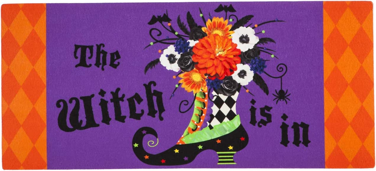 Evergreen Flag Witch Boot Sassafras Switch Mat