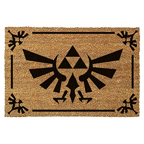 The Legend of Zelda Triforce Logo Brown Door Mat 60x40cm