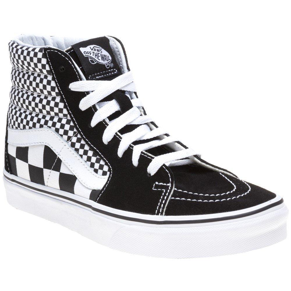 Vans Mens U SK8 Hi Mix Checker Black True White Size 5