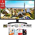 """LG 32UD59-B 32"""" 3840x2160 Ultra HD 4k LED Monitor with FreeSync + Elite Suite 18 Standard Editing Software Bundle + 1 Year Extended Warranty"""