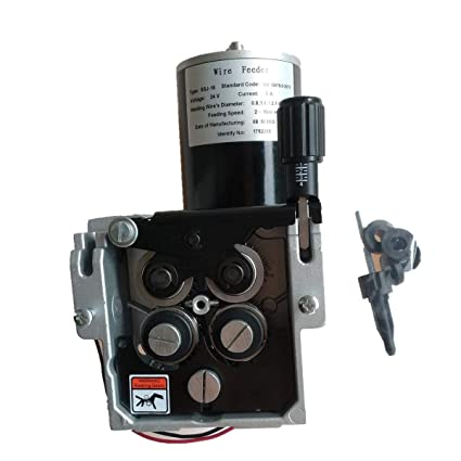 Asamblea del alimentador del alambre de la soldadura, motor de alimentación del alambre de 24V DC con la llama de la aleación de aluminio (SSJ-15)