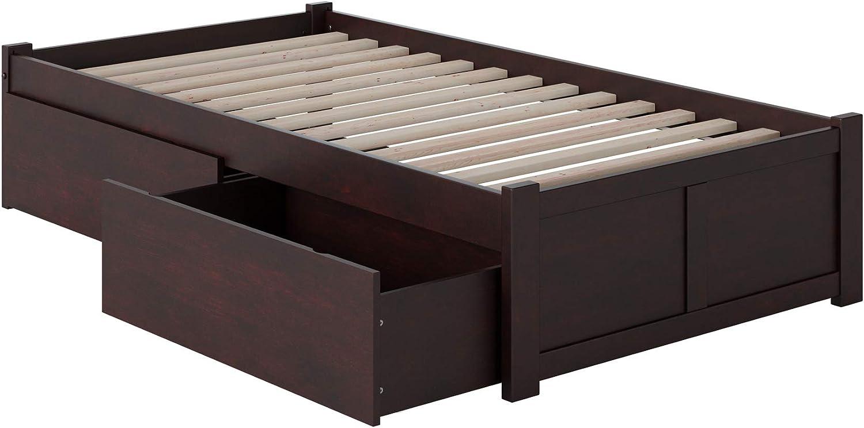 Atlantic Furniture 1 Concord Platform 2 Urban Bed Drawers, Twin XL, Espresso