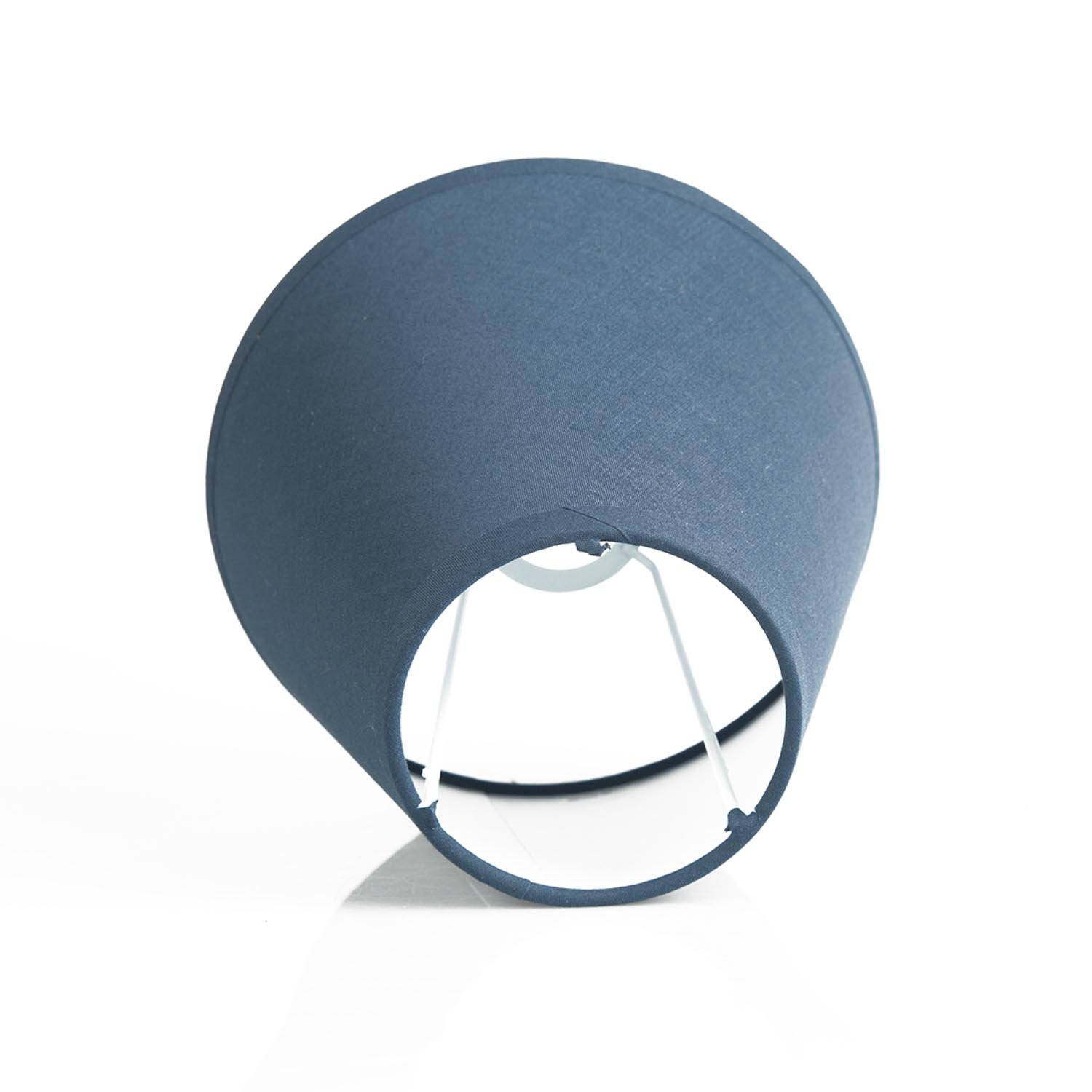 OYGROUP Solid Color Replacement Lampshade Simple Fashion Shade Creative Simple Table Lamp Desk Light Wall Lights E26 E12 Shade (Pack of 2) 8x14x16cm Dark Blue