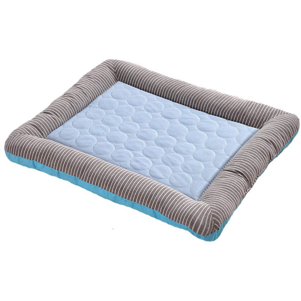 bluee Medium bluee Medium Pet Dog Cooling Mat Cat House Ice Pad with Breathable Comfortable for Dogs Pets Puppy