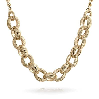 Bling Jewelry Chunky Beaded Round Link Statement Chain Necklace 18 Inches   Amazon.co.uk  Jewellery 68aebd9faae5