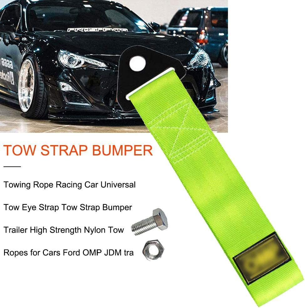 Universal High Strength Racing Car Tow Strap Tow Rope for Front Rear Bumper Towing Hook Black Tow Straps