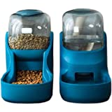 Automatic Pet Feeder and Water Dispenser Sets for Small & Medium Dogs Cats Pets Puppy Kitten Rabbit Bunny Animals