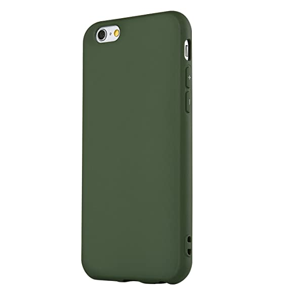 timeless design bcced 4a166 Manleno iphone 6 Case Soft TPU Matte Cover Case for iphone 6s 6 4.7 inch  (Olive Green)