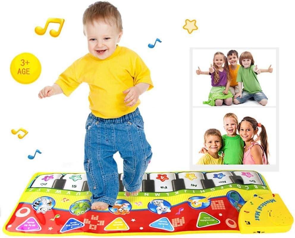 Txyk Teclado de Juegos, Alfombra Gimnasio para música y Cantar, bebé o niño pequeño, Piano de Suelo, Alfombra Divertida de Juegos, Manta para niños