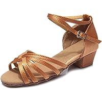 HIPPOSEUS Zapatos de Baile Latino Satín para niñas