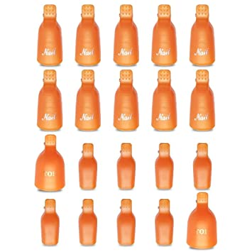 Amazon Com Teenitor Gel Nail Polish Remover 20 Pieces Reusable