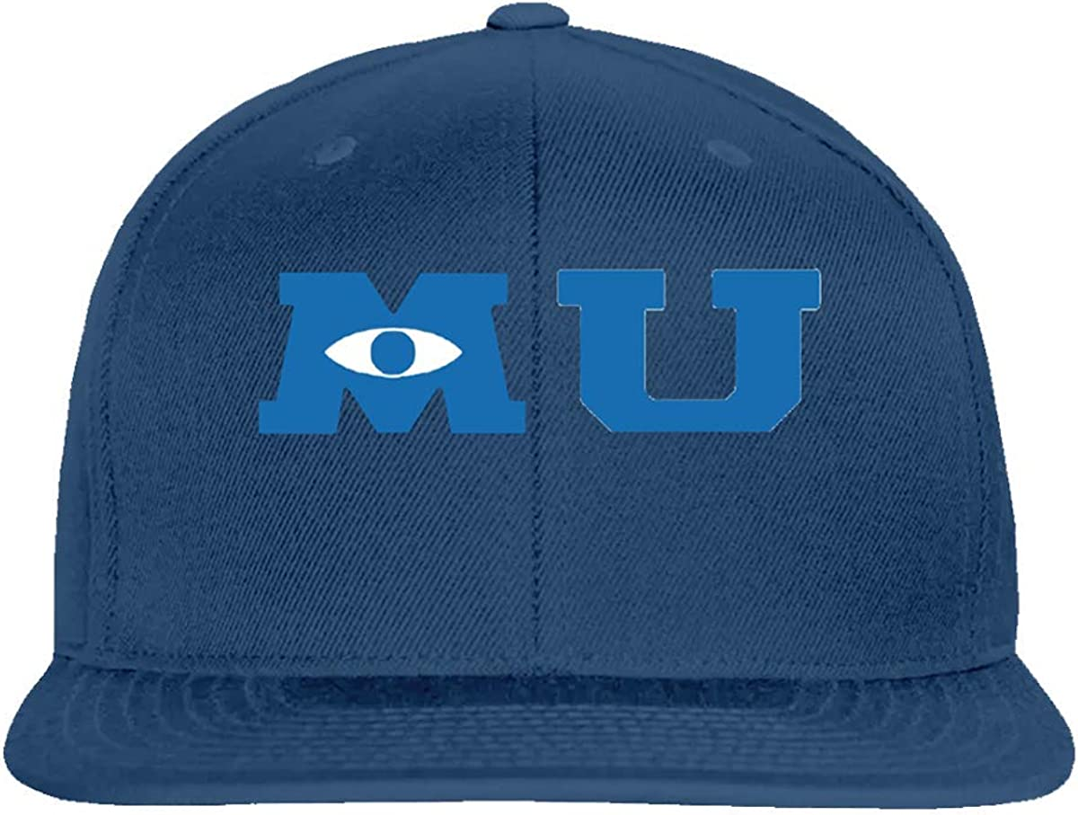 Amazon Com Ownspace Snapback Hat Monsters University Merchandise Hat Graphic Baseball Cap Unisex Gift 6 Panel Navy Clothing