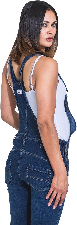 Wash Clothing Company Peto de Premam/á Azul Oscuro Peto Vaquero de Embarazo Peto Mujer Grace
