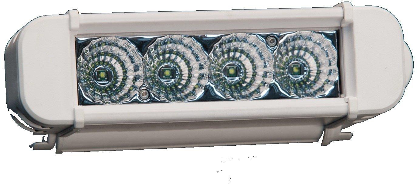 Lazer Star 6 Inch Atlantis 3 Watt Spot 4 LED 13040107 White Marine Finish LX0304-M