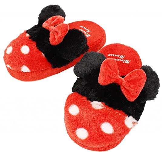 Minnie Mouse Women Plush Slippers