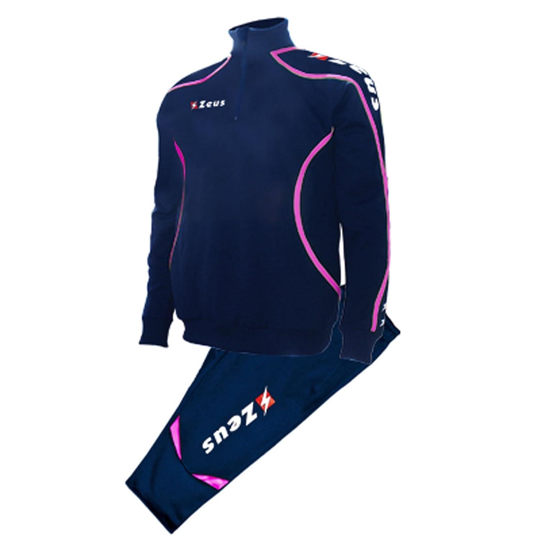 Tuta Zeus Viky Blu-Bianco Completo Pinocchietto Calcio Uomo Donna Jogging Calcetto Muta Torneo Scuola Sport