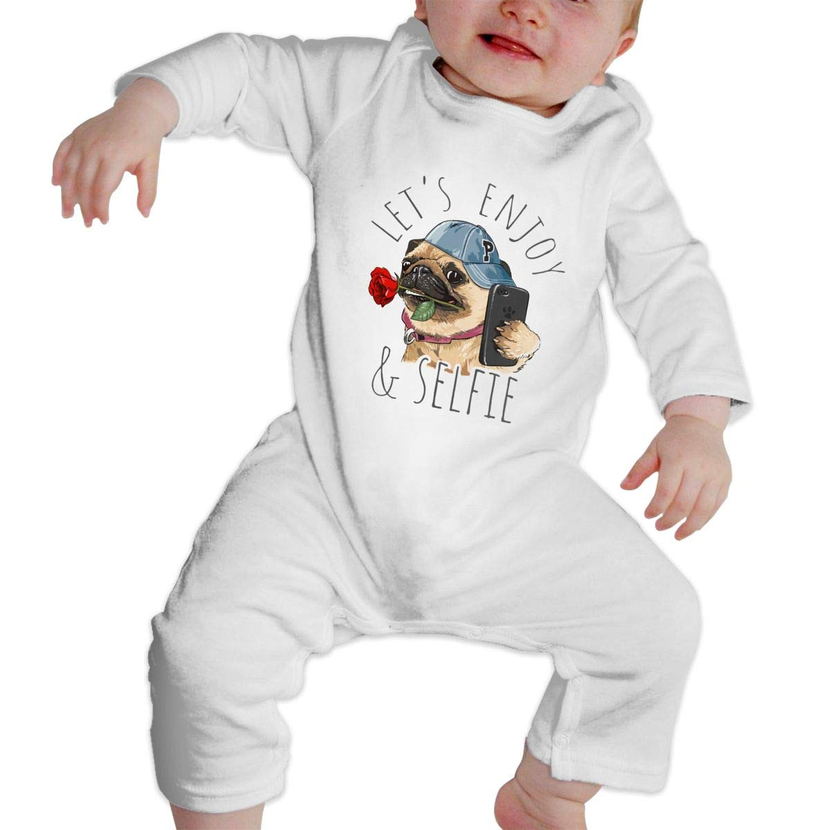 NOALKJ Babys Long Sleeve Romper,Cute-Dogs Jumpsuit Bodysuit Clothes