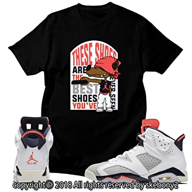 0f34cc1ab437 Amazon.com  Custom T Shirt Matching Style of AIR Jordan 6 Infrared ...