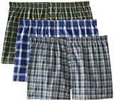 Fruit of the Loom Men's 3Pack Plaid Boxer Shorts
