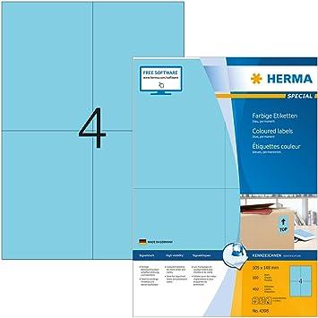 Amazon.com: Herma 4398 - Etiquetas rectangulares para ...