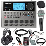 Alesis SR18 18 Bit Portable Drum Machine with Effects and Platinum Bundle w/ Microphone + Headphone + Cables + Fibertique + Batteries & Charger + Mic Stand & Windscreen